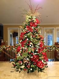 Raz Gold Christmas Trees red white and green christmas tree substitute the white with