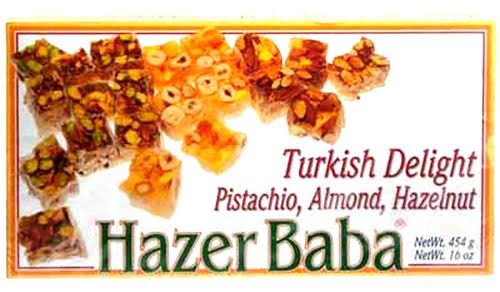 Hazer Baba Turkish Delight - Mixed Nuts, 16oz