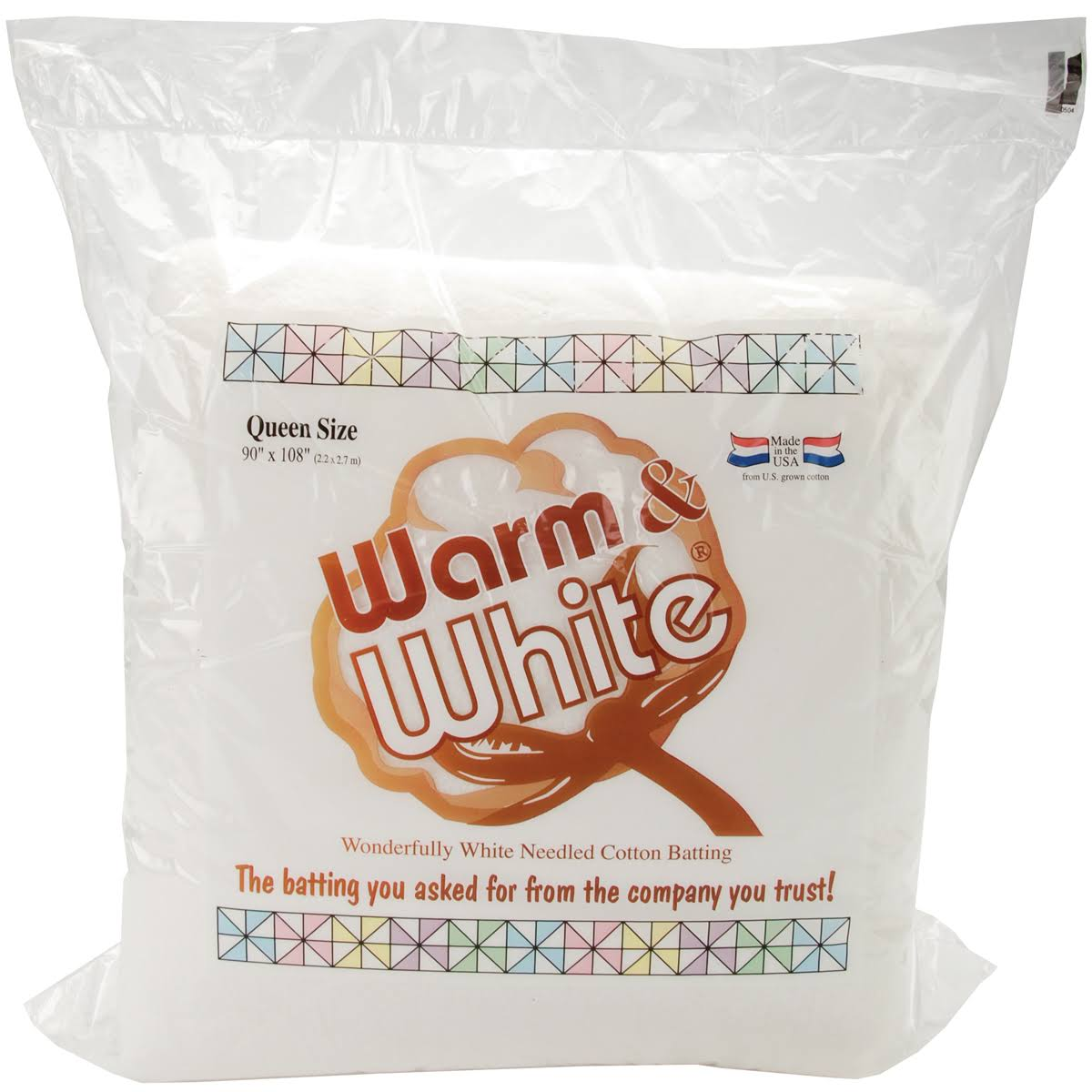 Warm and White Cotton Batting - Queen Size, 230cm x 270cm