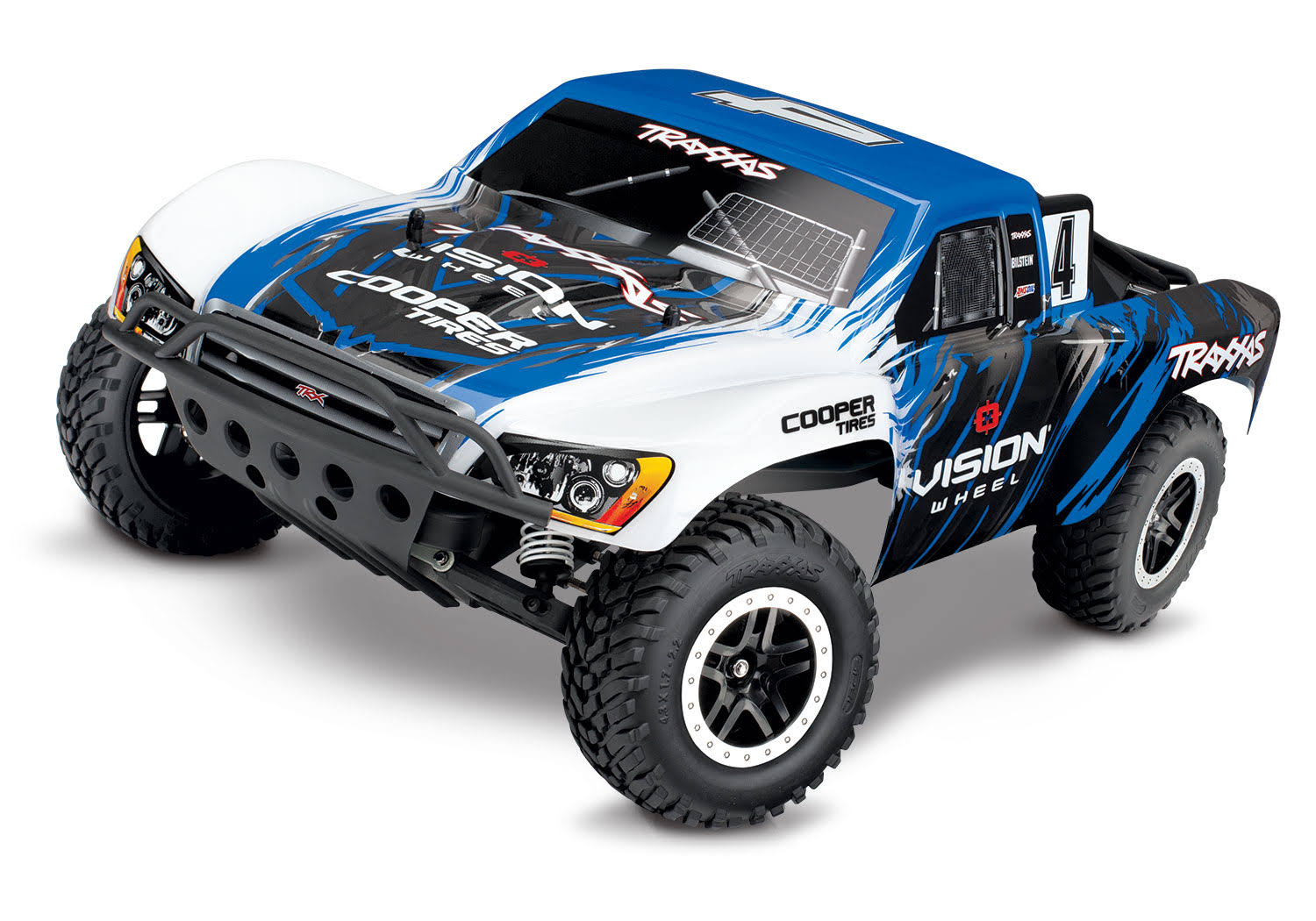 Traxxas Slash Scale 2WD Short Course Racing Truck Toy - Blue and White