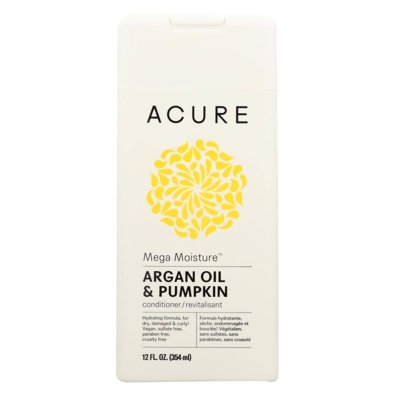 Acure Mega Moisture Conditioner - Argan Oil and Pumpkin, 12oz