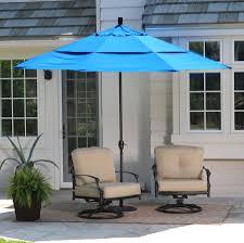 Walmart Patio Umbrella Table by Coral Coast 11 Ft Spun Polyester Patio Umbrella With Push Button