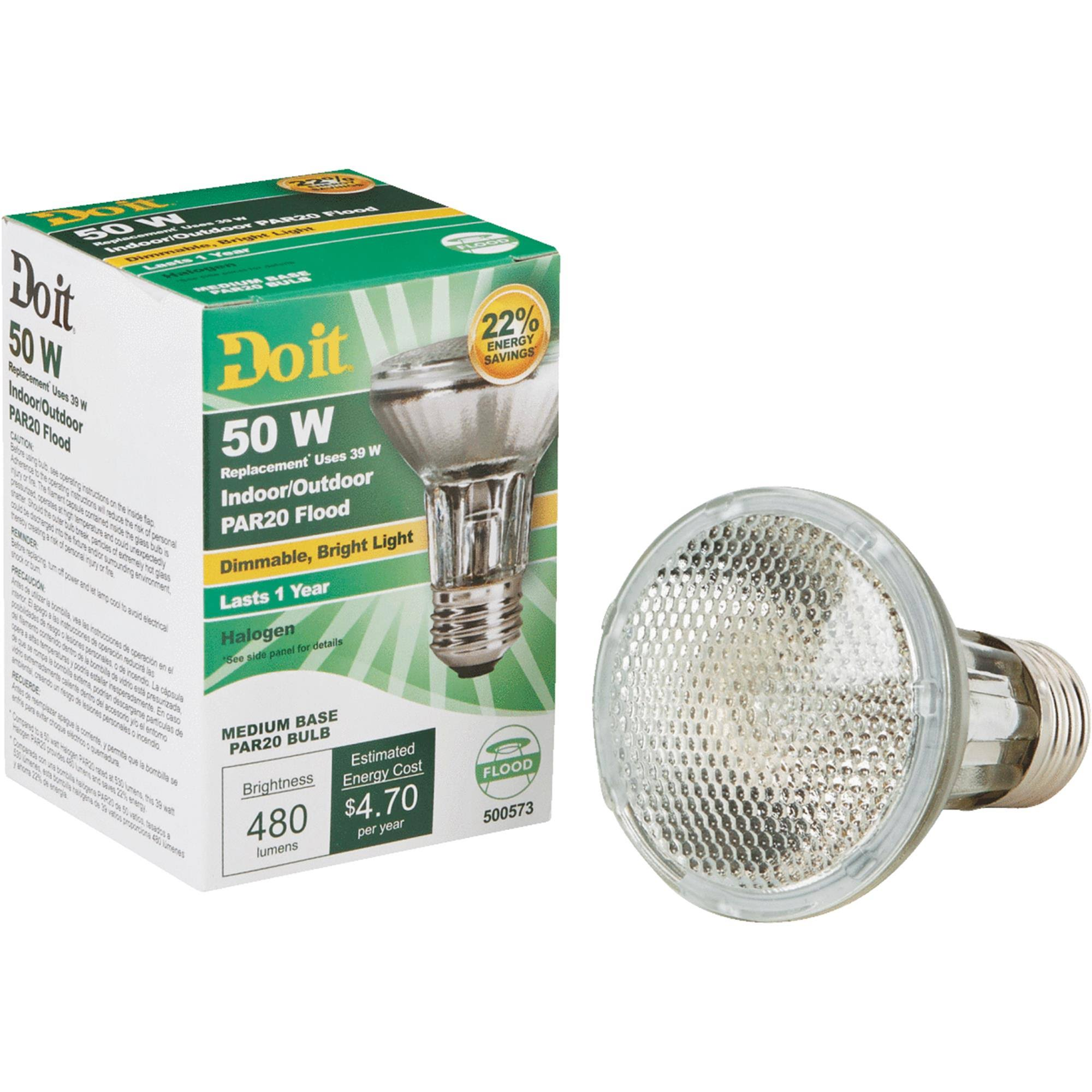 Do It PAR20 Halogen Floodlight Light Bulb - 322677