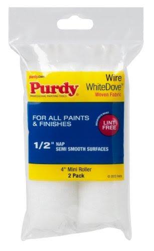 "Purdy White Dove Dralon Mini Paint Roller Covers - 4""x 1/2"""