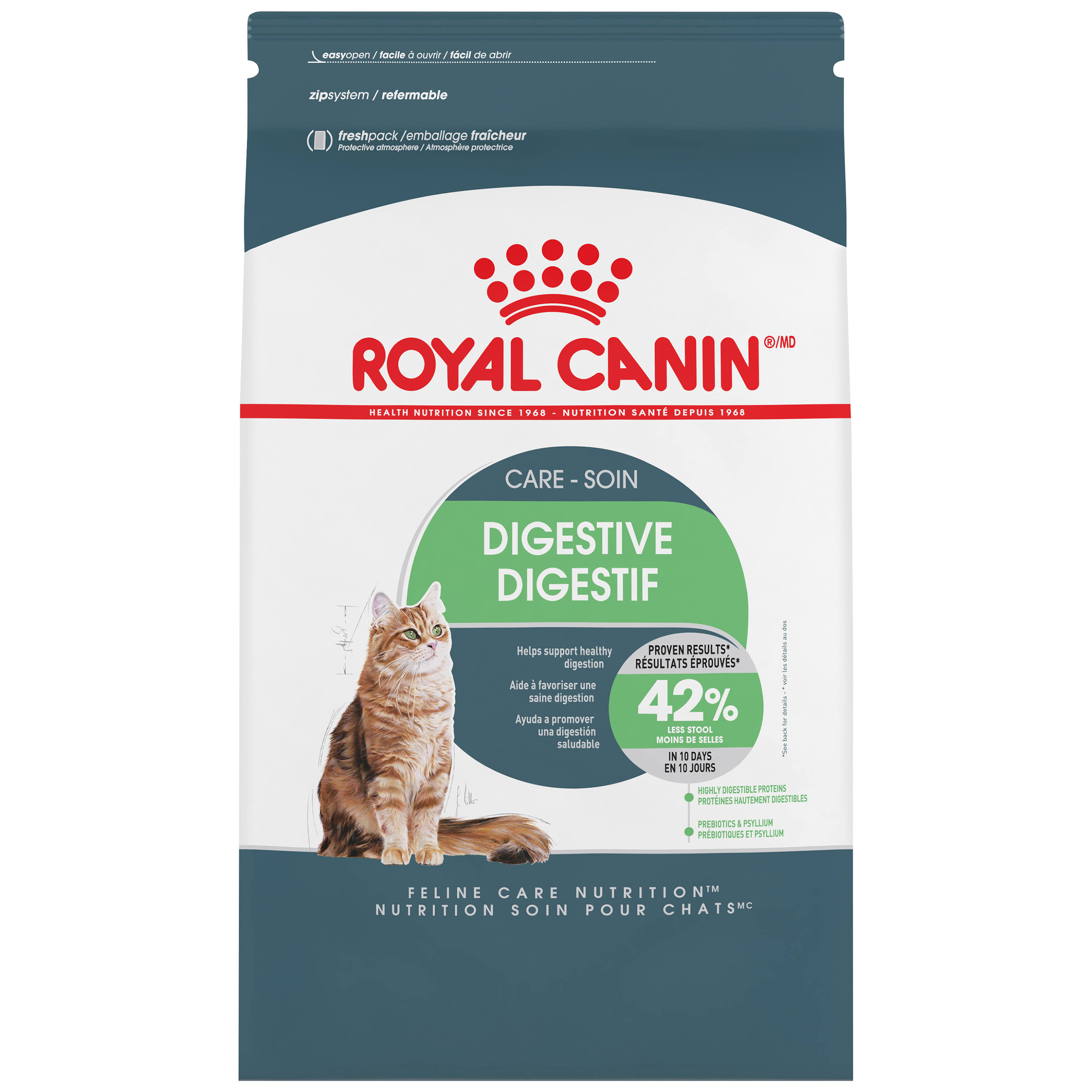 Royal Canin Adult Cat Dry Kibble Food - Digestive Care and Nutrition, 6lbs