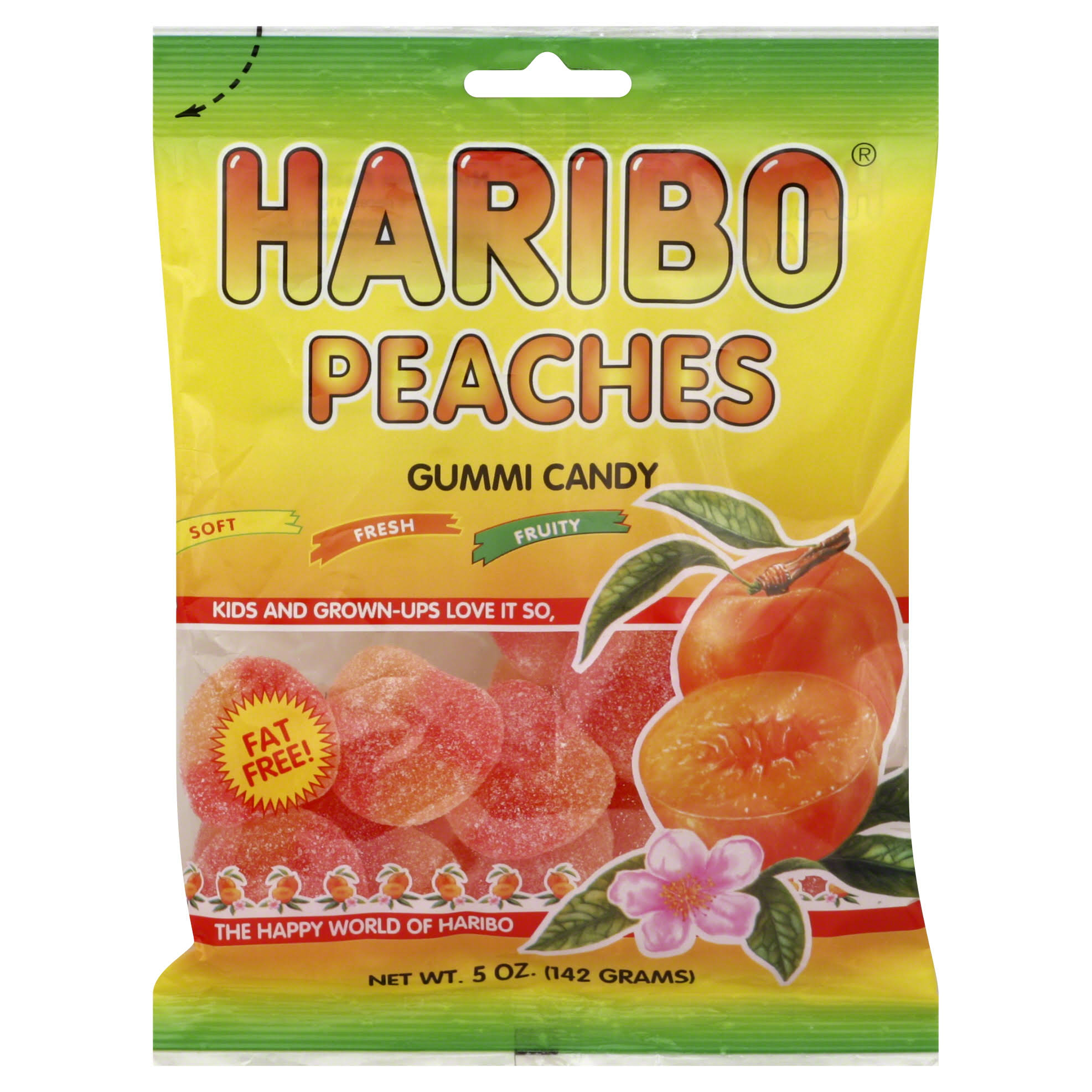 Haribo Gummi Candy - Peaches, 5oz