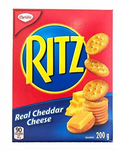 Ritz Real Cheddar Cheese Crackers - 200g