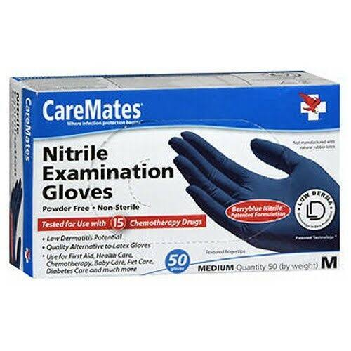 CareMates Nitrile Examination Gloves - Medium