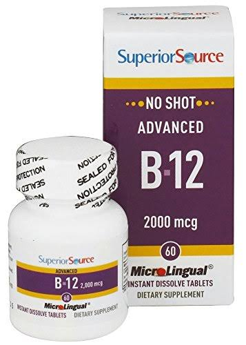 Superior Source No Shot B-12 2000 mcg - 60 MicroLingual Tablets