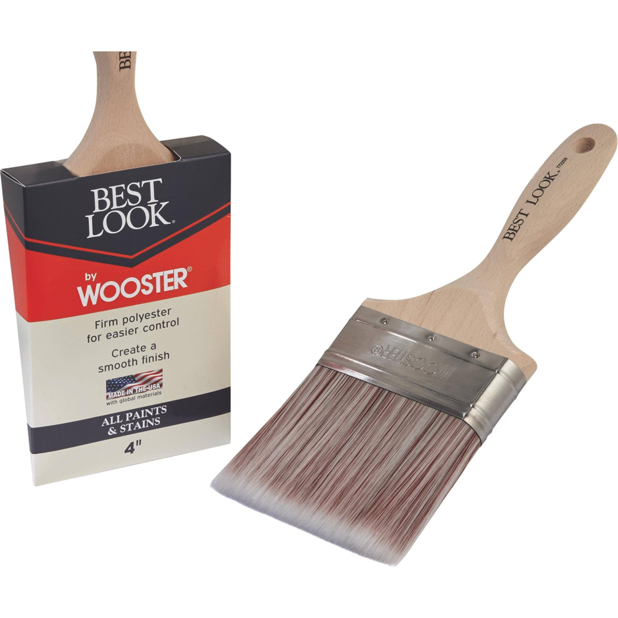 Best Look by Wooster Polyester Paint Brush D4024-4