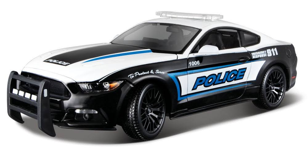 Maisto Diecast Vehicle - 2015 Ford Mustang Police, 1:18 Scale