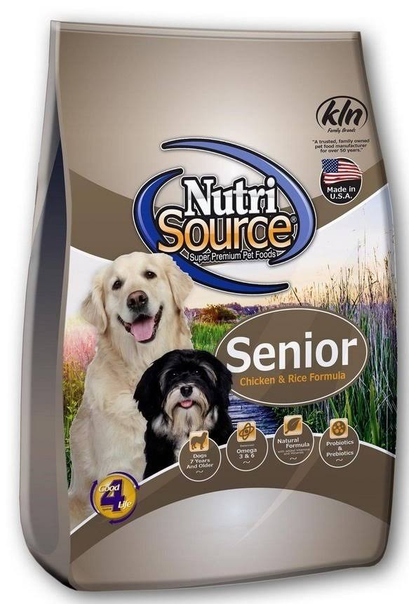 NutriSource Senior Chicken and Rice Dry Dog Food - 15-lb