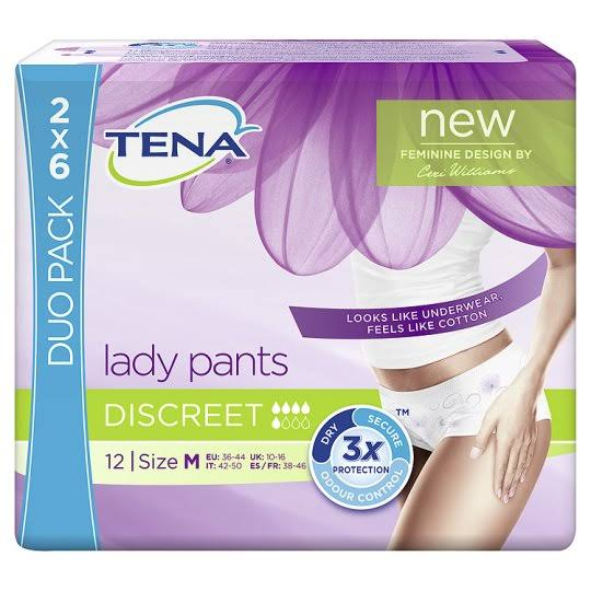 Tena Silhouette Normal Blanc Incontinence Pants - Medium, 12pk
