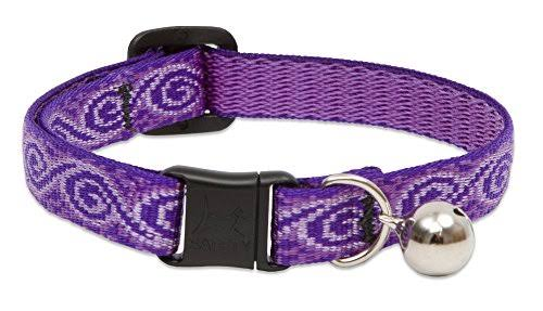 "Lupine Safety Release Buckle with Bell Cat Collar - 12mm x 8"" to 12"""