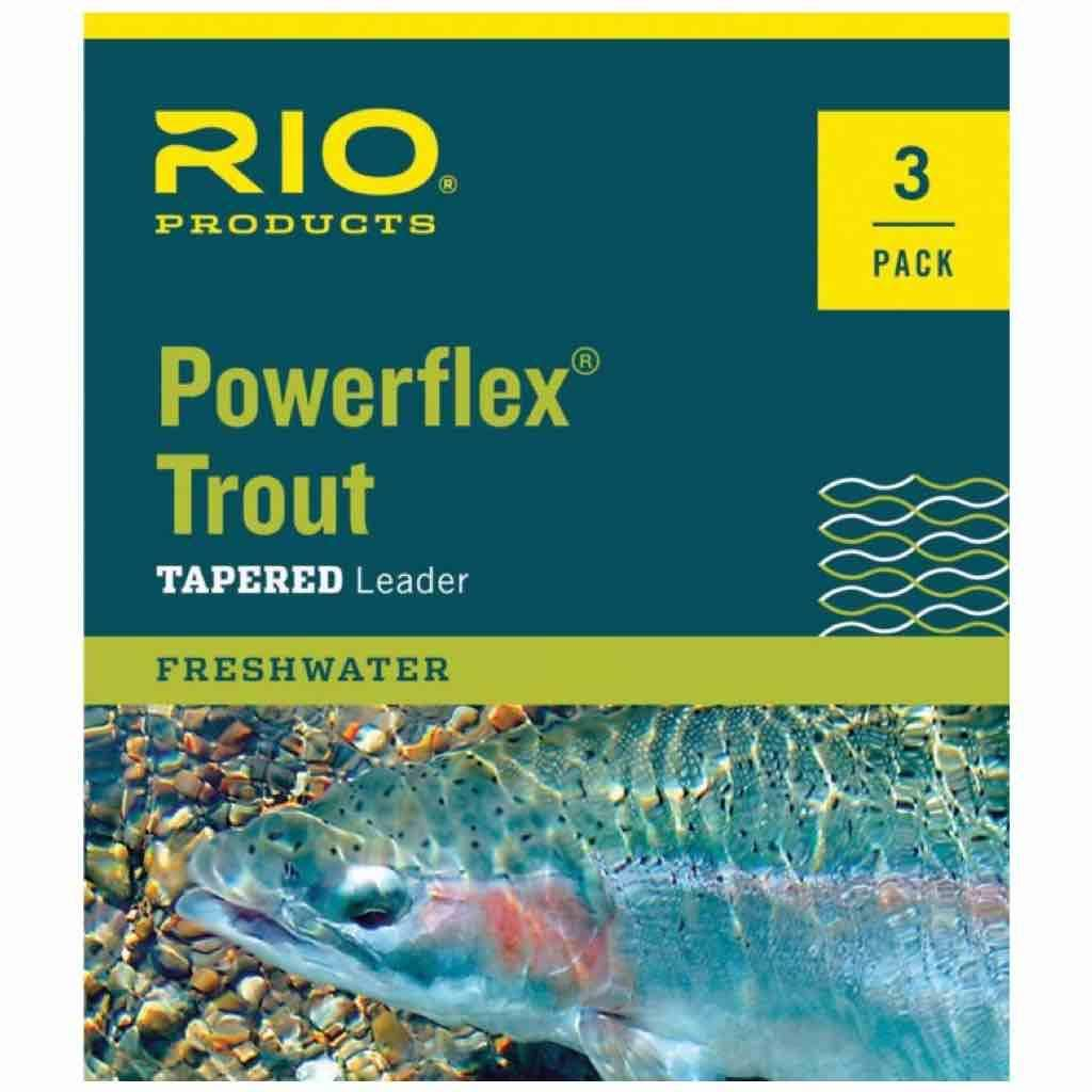 Rio Powerflex Trout Leader 3 Pack 9ft / 3X