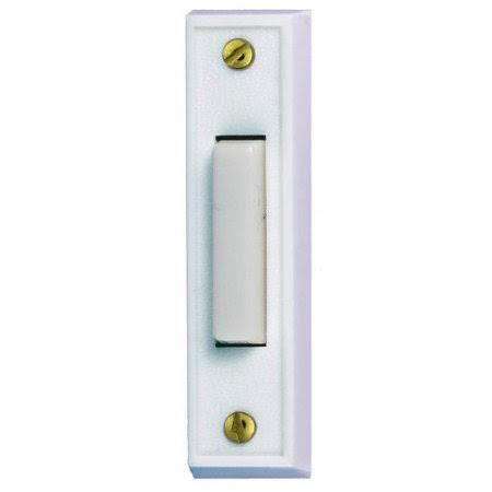 Heath Zenith Wired Door Chime Push Button - White