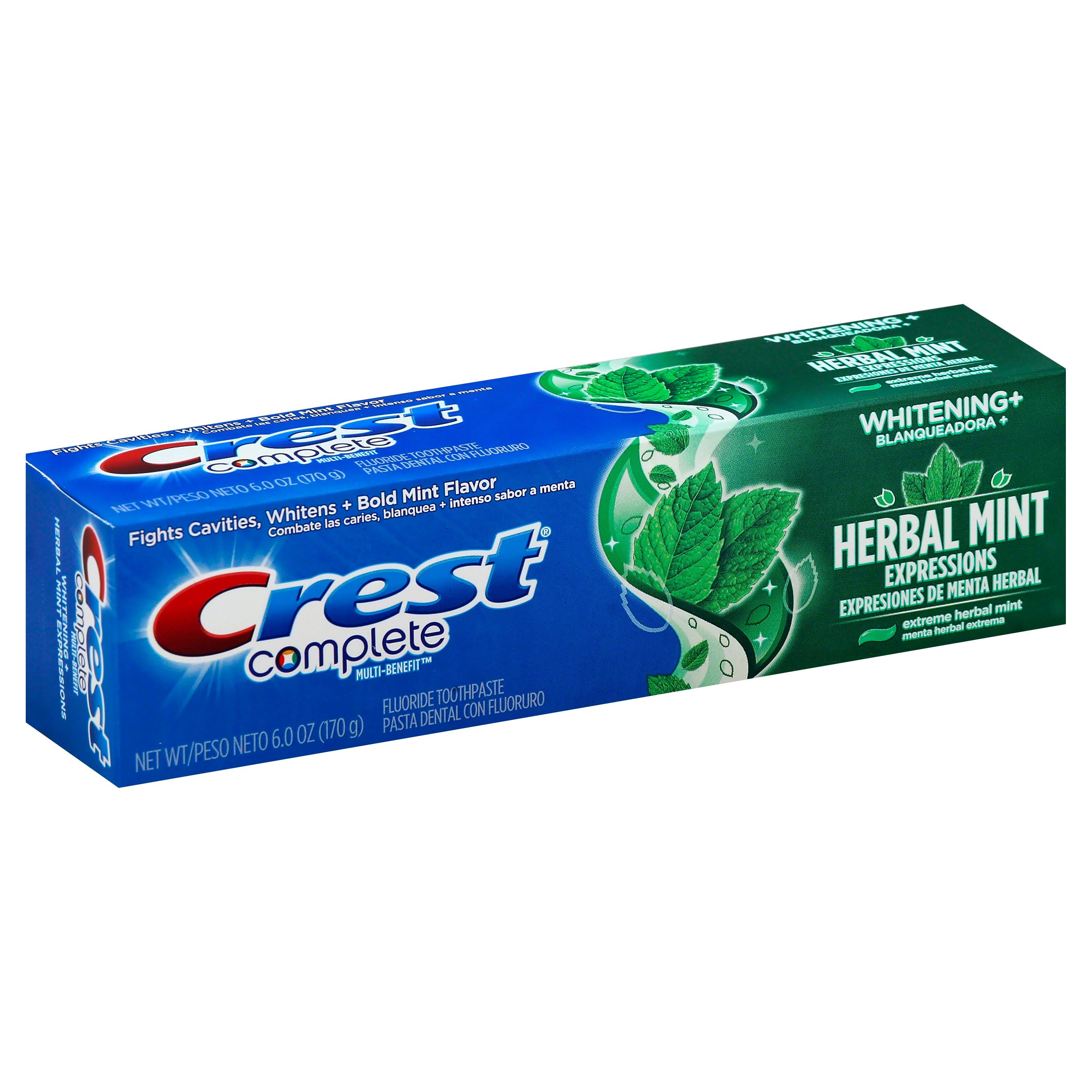 Crest Complete Multi-Benefit Extreme Fluoride Toothpaste - Herbal Mint, 170g