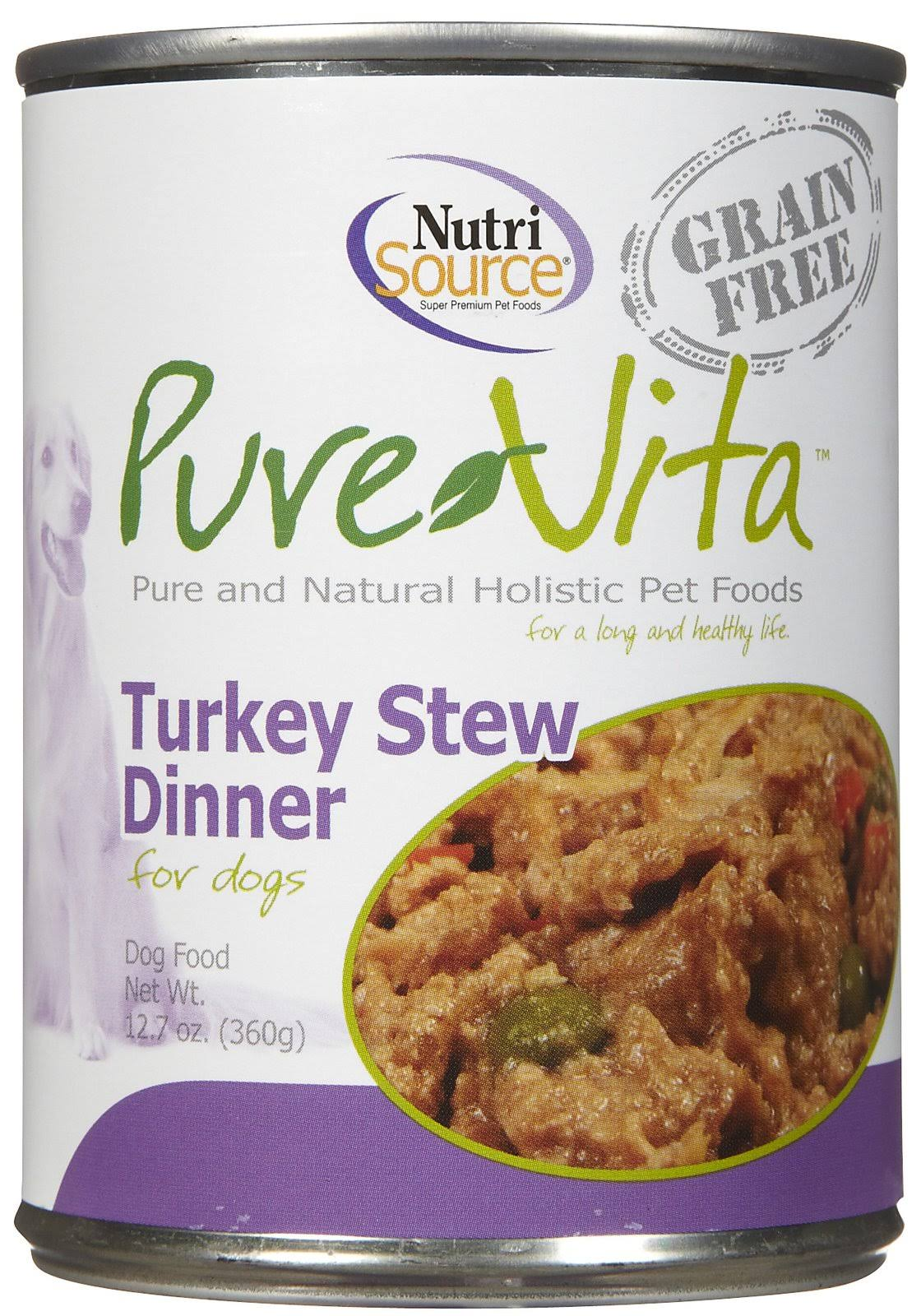 Nutri Source Pure Vita Cat Food - Turkey Stew Dinner, 142g