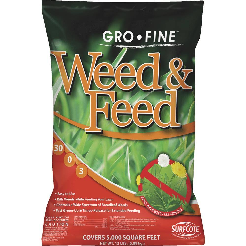 Gro-Fine Weed & Feed Lawn Fertilizer with Weed Killer 13 lb.