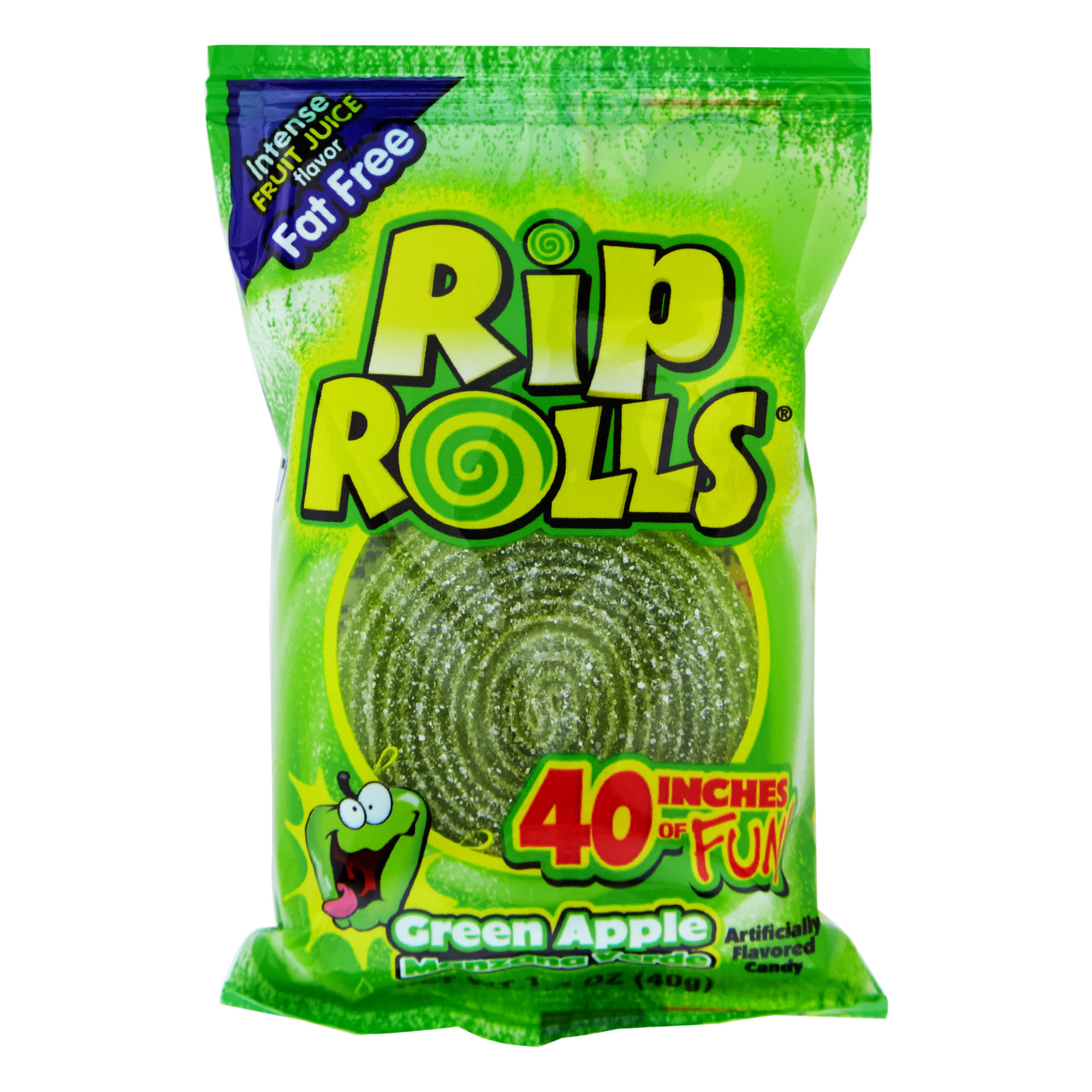 Rip Rolls Candy - Sour Apple, 40g