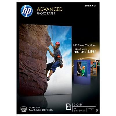 HP Advanced Glossy A4 Photo Paper - 25 Sheets