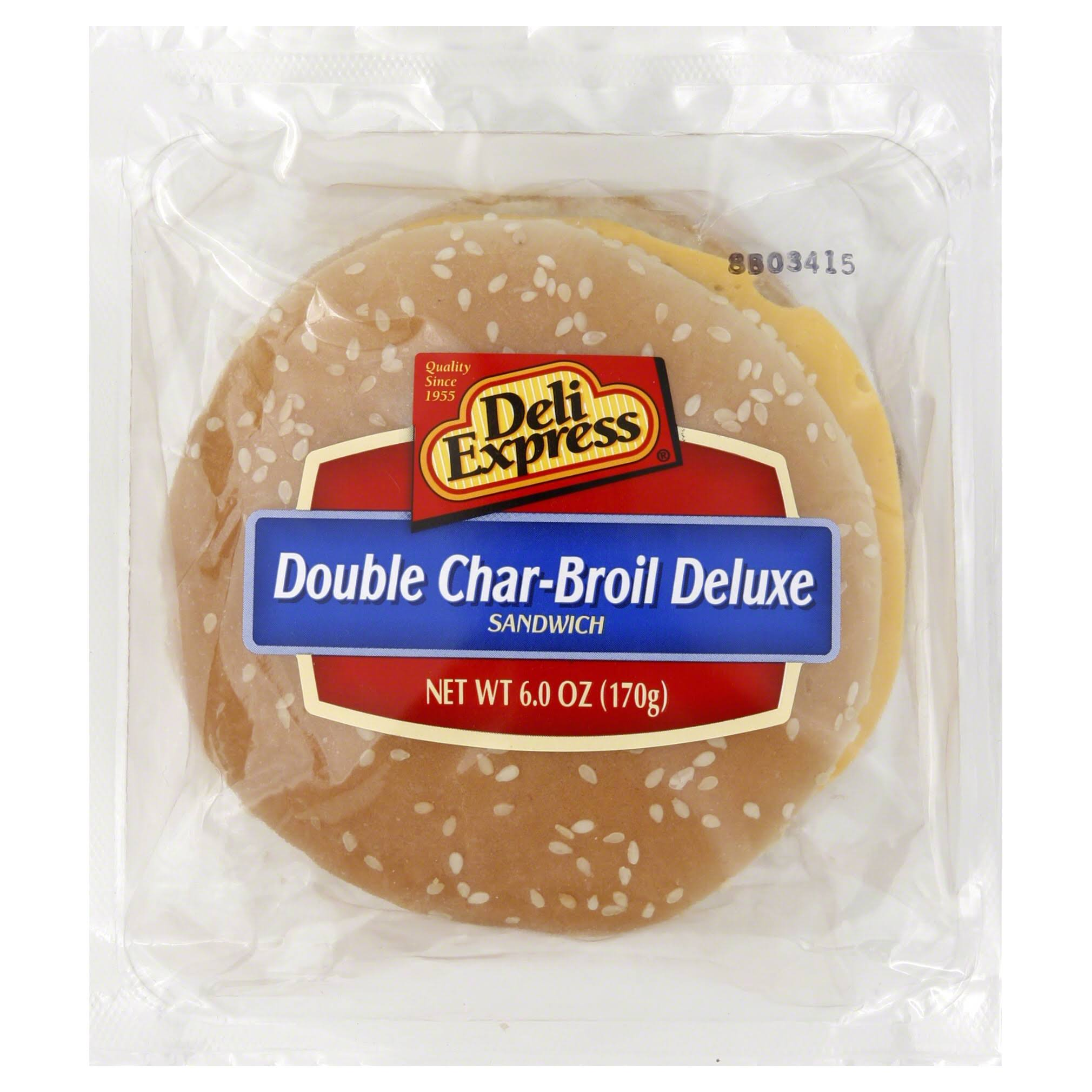 Deli Express Sandwich, Double Char-Broil Deluxe - 6 oz
