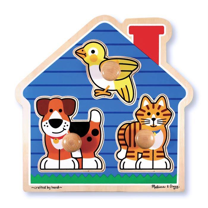 Melissa & Doug Large Peg Puzzle - House Pets
