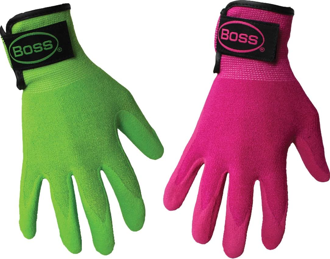 Boss Gloves 8443S Guardian Angel Sandy Nitrile Palm Gloves - Assorted Colors, Small