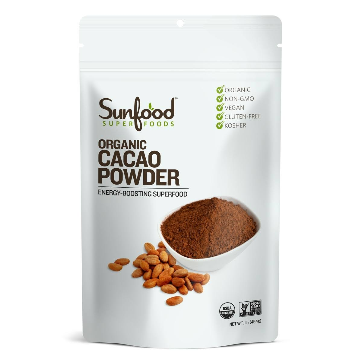 Sunfood Organic Chocolate Cacao Powder - 1lb