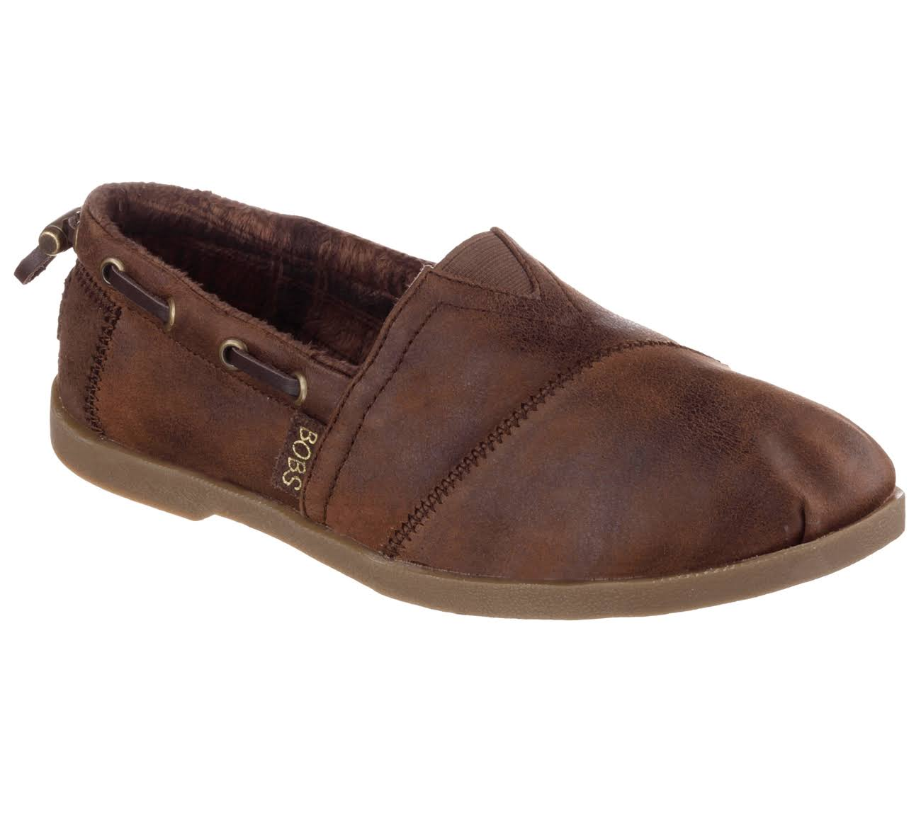Skechers Bobs Chill Luxe-Buttoned Up 10 Women's Brown