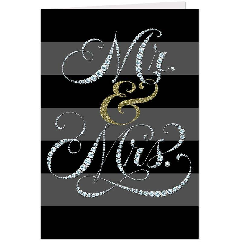 Sparkly Mr. & Mrs. Wedding Card