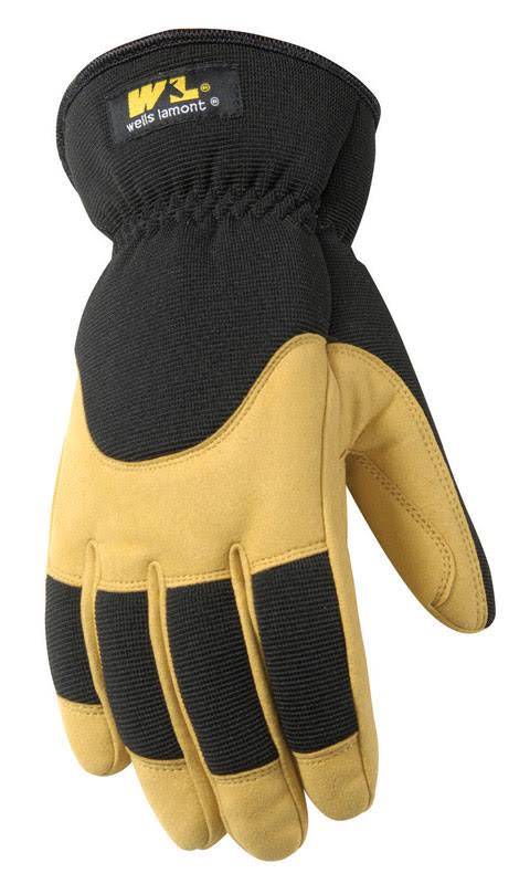 Wells Lamont Men's Winter Leather Gloves - Saddletan & Black, X-Large