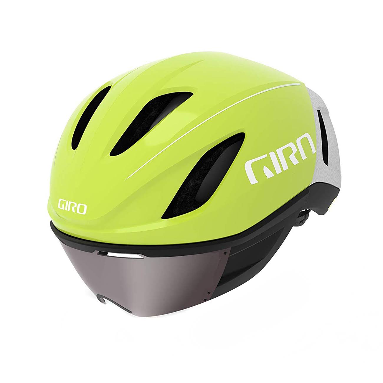 Giro Vanquish MIPS Cycling Helmet - Matte Citron/White, Medium