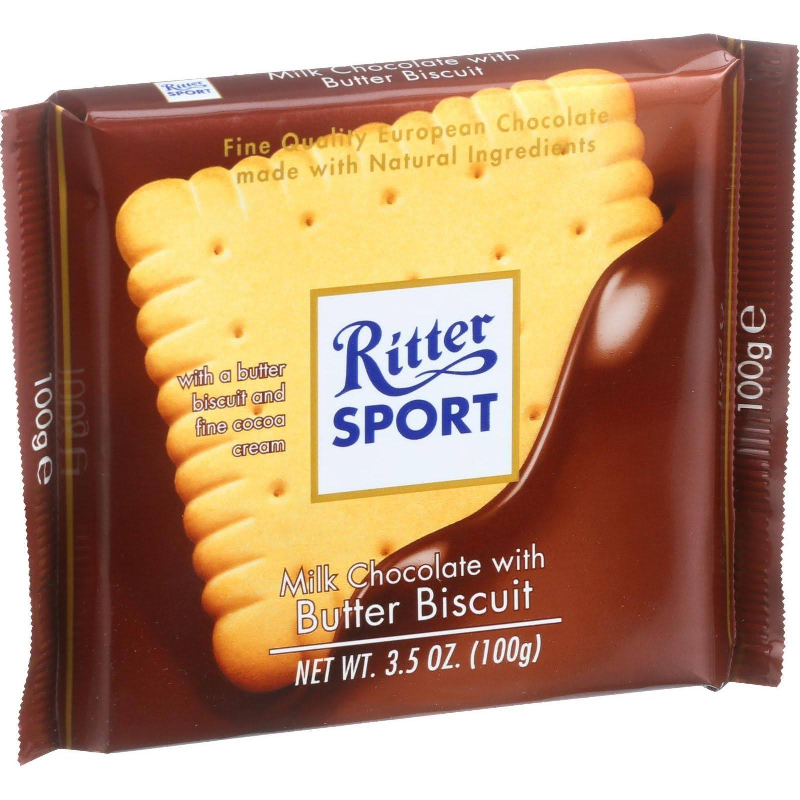 Ritter Sport - Milk Chocolate With Butter Biscuit, 100g
