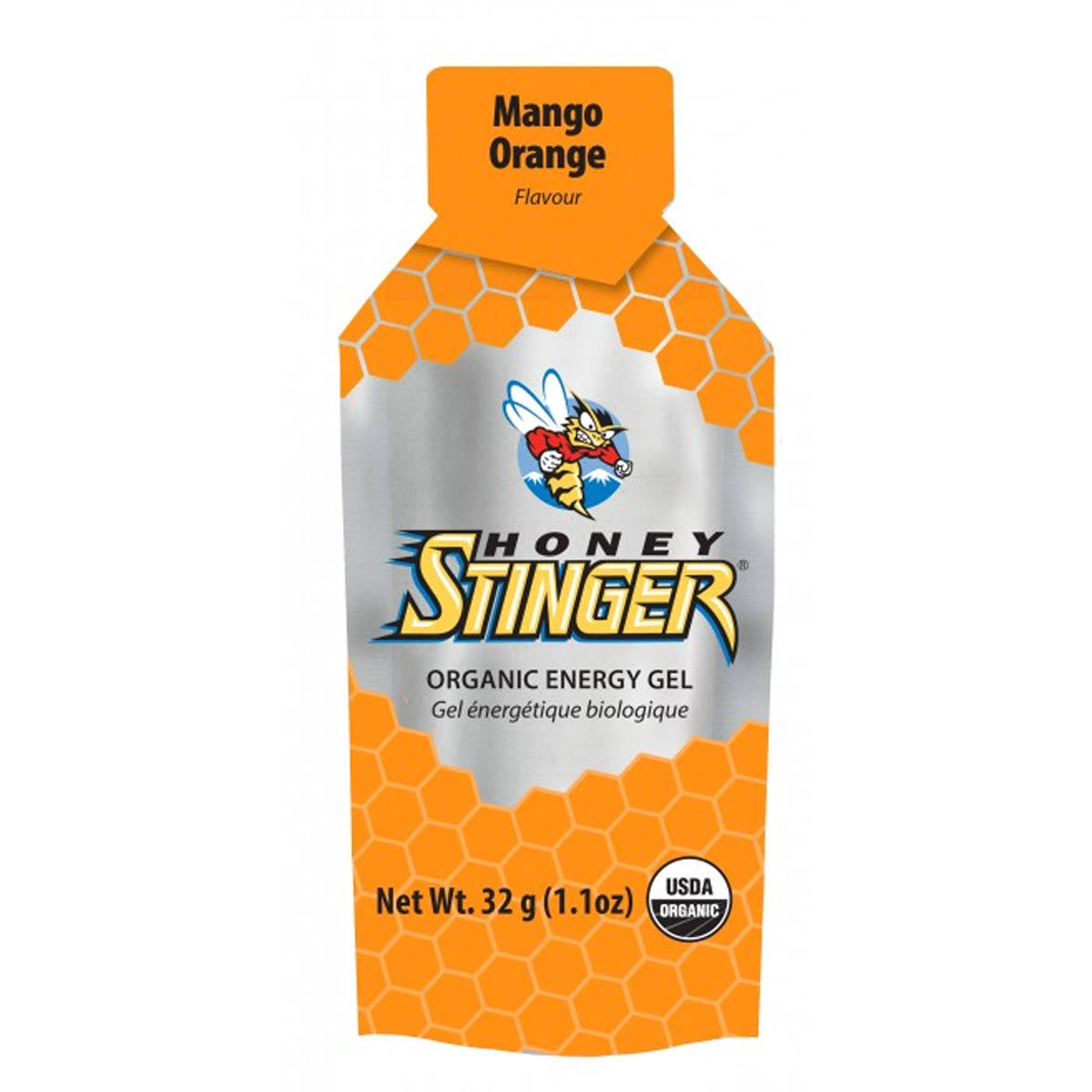 Honey Stinger Organic Energy Gel Box-24 Mango-Orange
