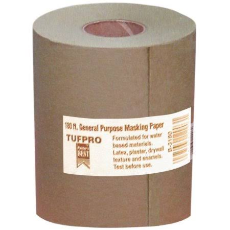"Trimaco 12903 Brown Masking Paper - 3"" x 180'"