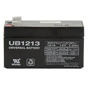 Universal Power Group Sla Battery - Black, 12V, 1.3amp
