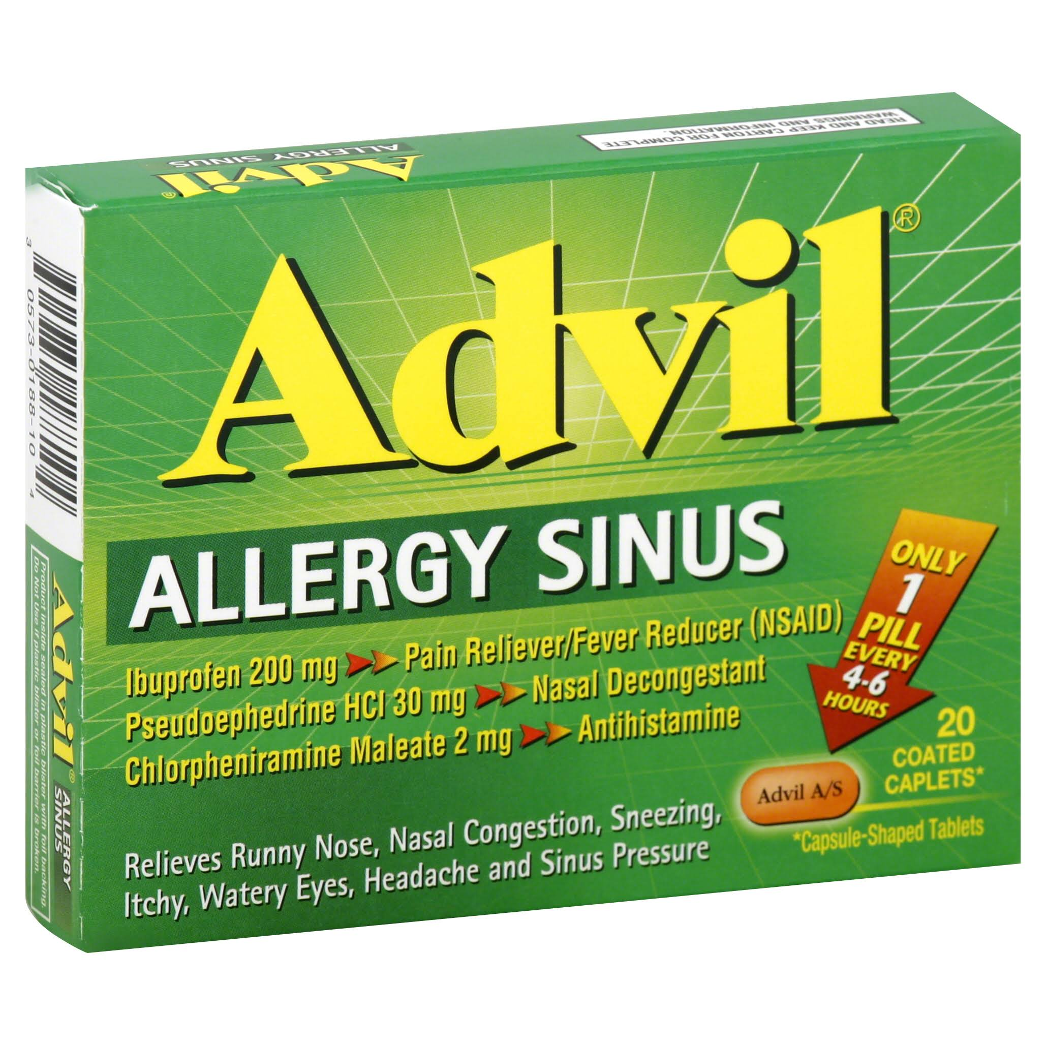 Advil Allergy Sinus Caplets - 20ct