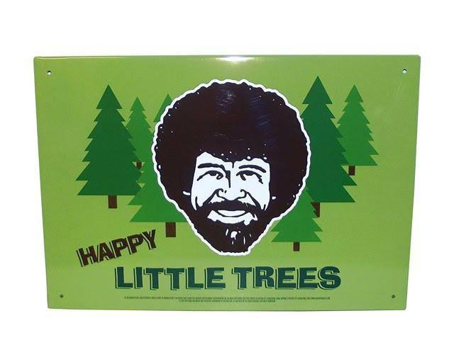 Bob Ross - Happy Little Trees Tin Sign