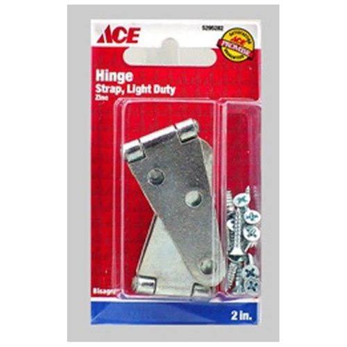 Ace Hardware Zinc Plated Light Duty Strap Hinges - 2""