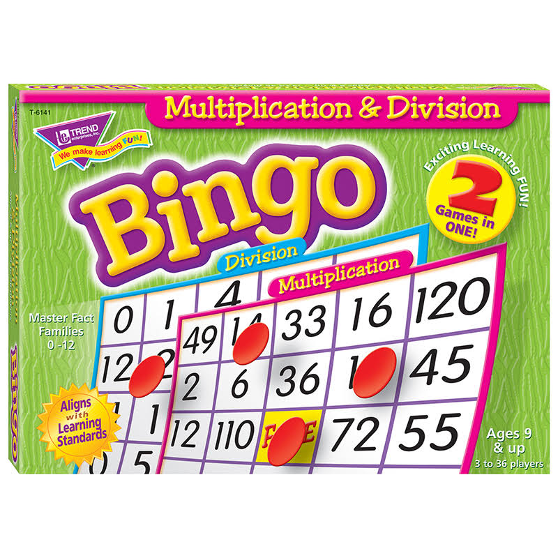 Trend T6141 Multiplication and Division Bingo Game