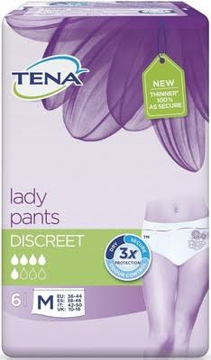 Tena Lady Discreet Pants - Medium, 6pcs