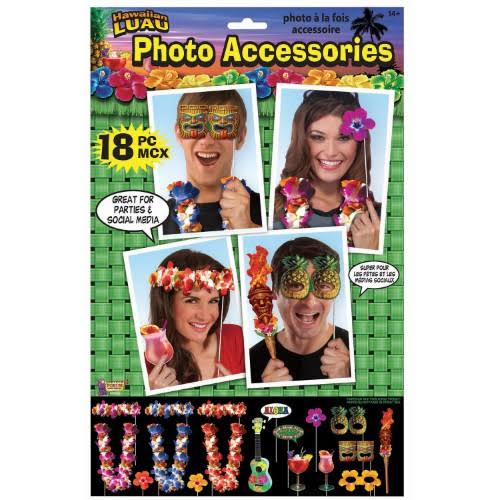 Forum Novelties 311272 Luau Photo Props - 18 Piece