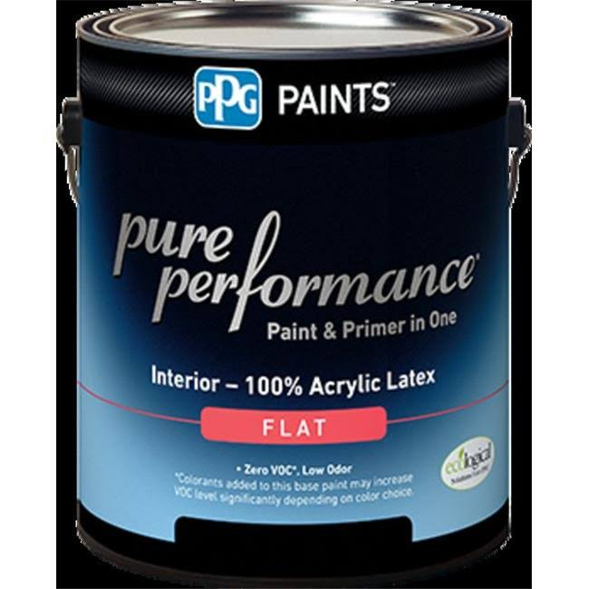 PPG Architectural Coatings 418843025 1 Quart. 9-140-04 Flat Interior Latex Pure Performance Paint, Ultra Deep