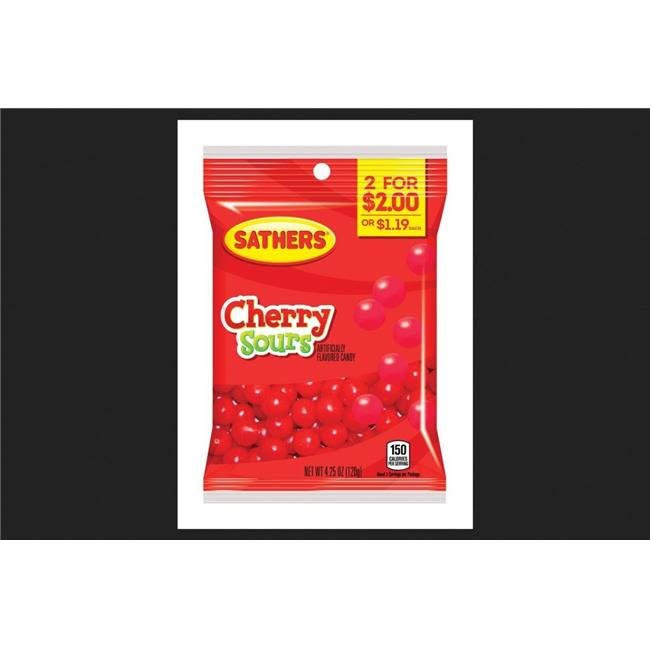 Sathers 01314 4.25 oz Cherry Sours