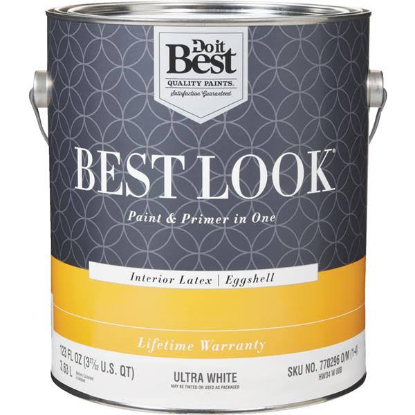 Do it Best Best Look Latex Paint & Primer In One Interior Latex Eggshell Enamel - Ultra White