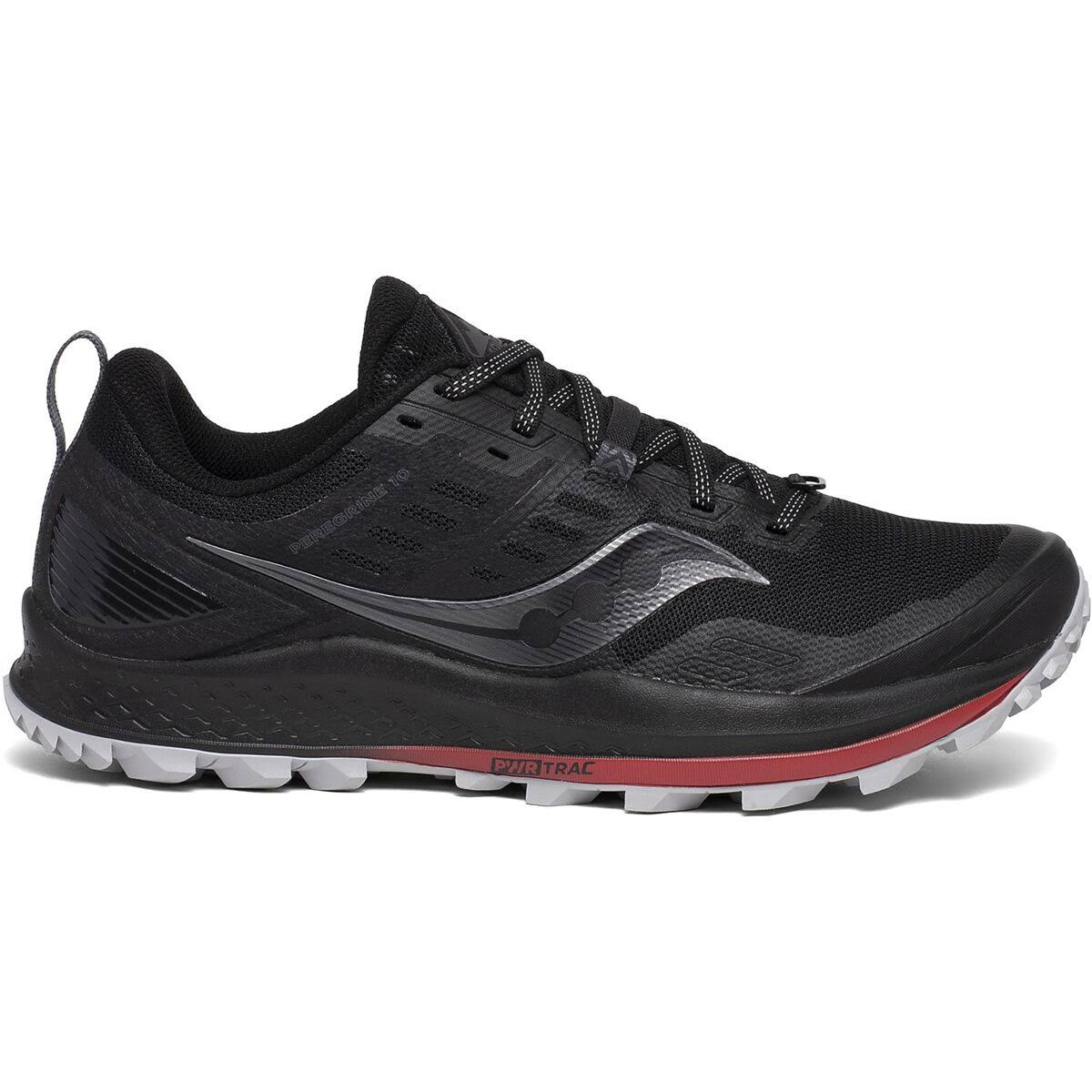 Saucony Peregrine 10 Trail Running Shoes - Black - 8.5