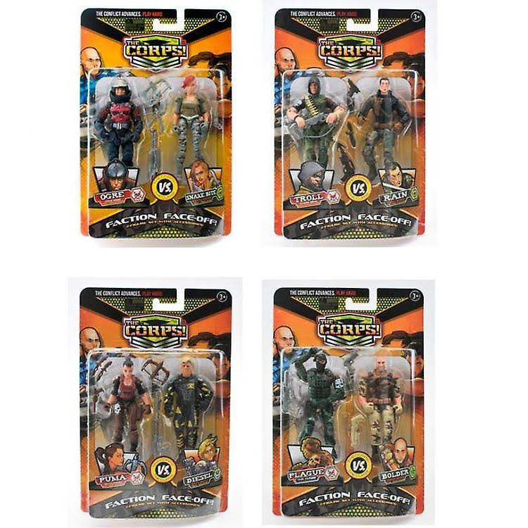 The Corps! Elite Faction Face-off! Action Figures - 6ct