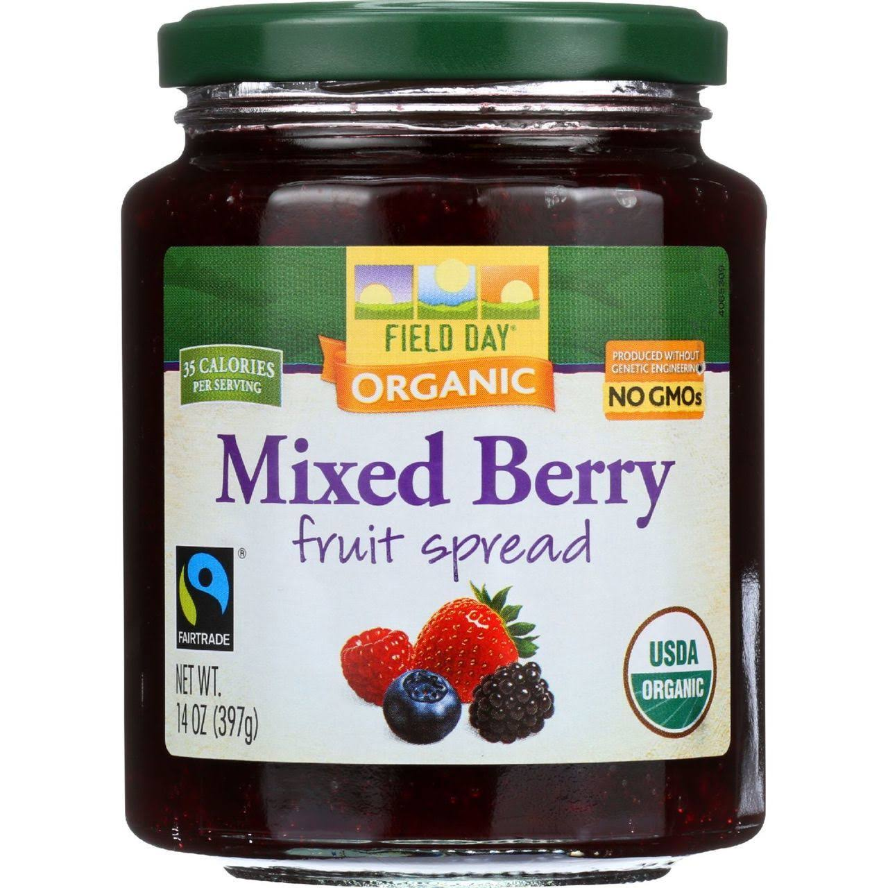 Field Day Organic Fruit Spread - Mixed Berry - 14 oz