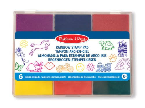 Melissa & Doug Rainbow Stamp Pad - x6 colours